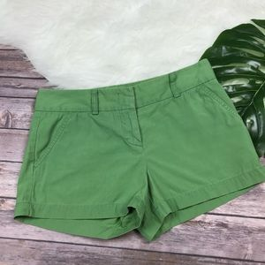 J.Crew City Fit Green 100% Cotton Shirts Size 2